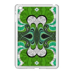 Fractal Art Green Pattern Design Apple Ipad Mini Case (white) by BangZart