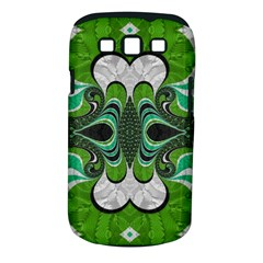 Fractal Art Green Pattern Design Samsung Galaxy S Iii Classic Hardshell Case (pc+silicone) by BangZart