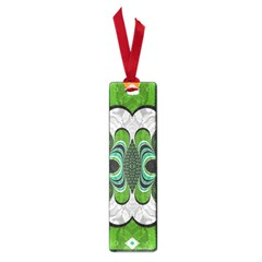 Fractal Art Green Pattern Design Small Book Marks by BangZart
