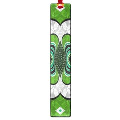 Fractal Art Green Pattern Design Large Book Marks by BangZart