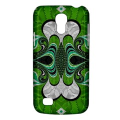 Fractal Art Green Pattern Design Galaxy S4 Mini by BangZart