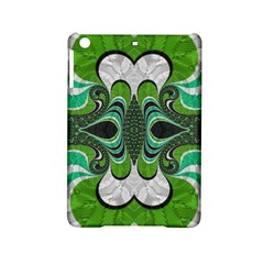 Fractal Art Green Pattern Design Ipad Mini 2 Hardshell Cases by BangZart