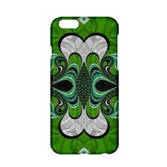 Fractal Art Green Pattern Design Apple Iphone 6/6s Hardshell Case
