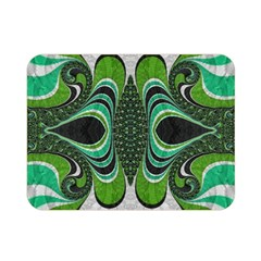 Fractal Art Green Pattern Design Double Sided Flano Blanket (mini)  by BangZart