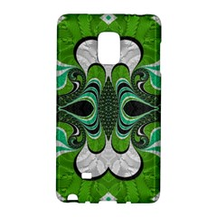Fractal Art Green Pattern Design Galaxy Note Edge by BangZart