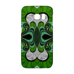 Fractal Art Green Pattern Design Galaxy S6 Edge