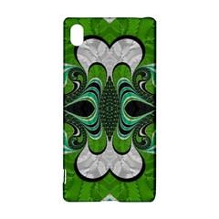 Fractal Art Green Pattern Design Sony Xperia Z3+ by BangZart