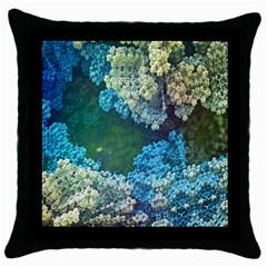 Fractal Formula Abstract Backdrop Throw Pillow Case (black)