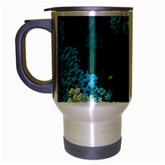 Fractal Formula Abstract Backdrop Travel Mug (silver Gray) by BangZart
