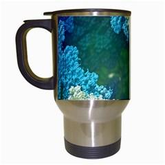 Fractal Formula Abstract Backdrop Travel Mugs (white)