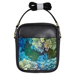 Fractal Formula Abstract Backdrop Girls Sling Bags by BangZart