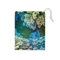 Fractal Formula Abstract Backdrop Drawstring Pouches (medium)