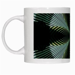 Lines Abstract Background White Mugs by BangZart