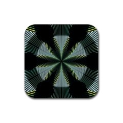 Lines Abstract Background Rubber Square Coaster (4 Pack)  by BangZart