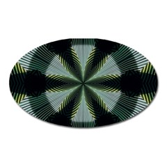 Lines Abstract Background Oval Magnet