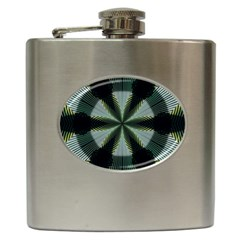 Lines Abstract Background Hip Flask (6 Oz) by BangZart