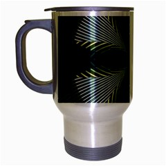 Lines Abstract Background Travel Mug (silver Gray)