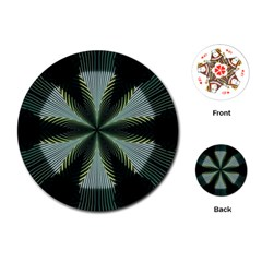 Lines Abstract Background Playing Cards (round)  by BangZart