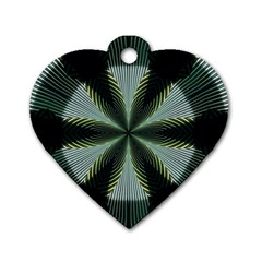 Lines Abstract Background Dog Tag Heart (two Sides)