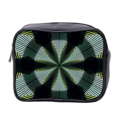 Lines Abstract Background Mini Toiletries Bag 2 Side by BangZart