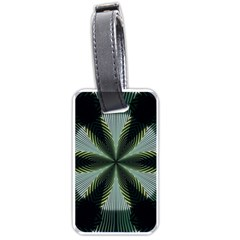 Lines Abstract Background Luggage Tags (one Side)