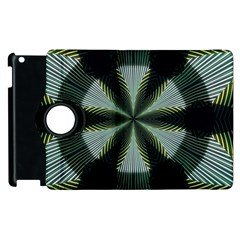 Lines Abstract Background Apple Ipad 2 Flip 360 Case by BangZart