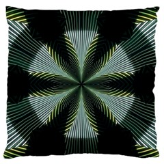 Lines Abstract Background Large Flano Cushion Case (one Side)