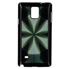 Lines Abstract Background Samsung Galaxy Note 4 Case (black)
