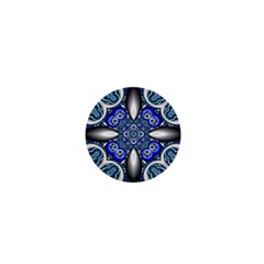 Fractal Cathedral Pattern Mosaic 1  Mini Magnets