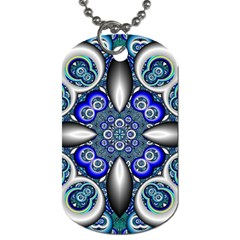Fractal Cathedral Pattern Mosaic Dog Tag (one Side) by BangZart