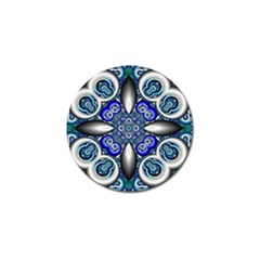 Fractal Cathedral Pattern Mosaic Golf Ball Marker (4 Pack) by BangZart
