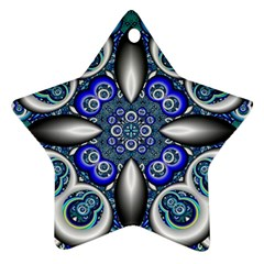 Fractal Cathedral Pattern Mosaic Star Ornament (two Sides) by BangZart