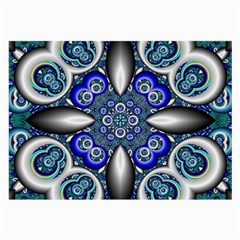 Fractal Cathedral Pattern Mosaic Large Glasses Cloth (2 Side) by BangZart