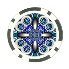 Fractal Cathedral Pattern Mosaic Poker Chip Card Guard (10 Pack)