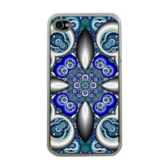 Fractal Cathedral Pattern Mosaic Apple Iphone 4 Case (clear) by BangZart