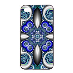 Fractal Cathedral Pattern Mosaic Apple Iphone 4/4s Seamless Case (black) by BangZart