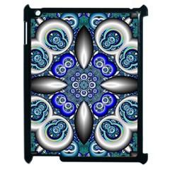 Fractal Cathedral Pattern Mosaic Apple Ipad 2 Case (black) by BangZart