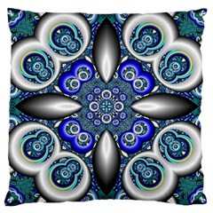 Fractal Cathedral Pattern Mosaic Large Cushion Case (one Side) by BangZart