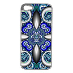 Fractal Cathedral Pattern Mosaic Apple Iphone 5 Case (silver) by BangZart