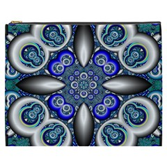 Fractal Cathedral Pattern Mosaic Cosmetic Bag (xxxl)  by BangZart