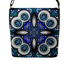 Fractal Cathedral Pattern Mosaic Flap Messenger Bag (l)  by BangZart