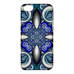 Fractal Cathedral Pattern Mosaic Apple Iphone 5c Hardshell Case by BangZart