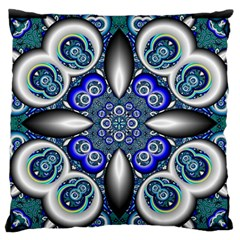 Fractal Cathedral Pattern Mosaic Standard Flano Cushion Case (one Side) by BangZart