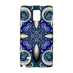 Fractal Cathedral Pattern Mosaic Samsung Galaxy Note 4 Hardshell Case by BangZart