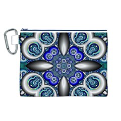 Fractal Cathedral Pattern Mosaic Canvas Cosmetic Bag (l) by BangZart
