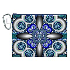 Fractal Cathedral Pattern Mosaic Canvas Cosmetic Bag (xxl) by BangZart