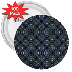 Space Wallpaper Pattern Spaceship 3  Buttons (100 Pack)