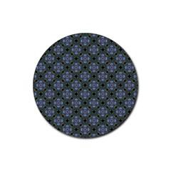 Space Wallpaper Pattern Spaceship Rubber Coaster (round)