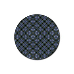 Space Wallpaper Pattern Spaceship Rubber Round Coaster (4 Pack)