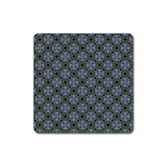 Space Wallpaper Pattern Spaceship Square Magnet